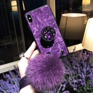 iPhone XS Max Phone Case, purple